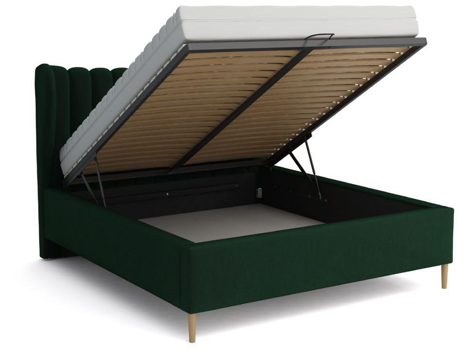 Łóżko tapicerowane Jasmine Zieleń