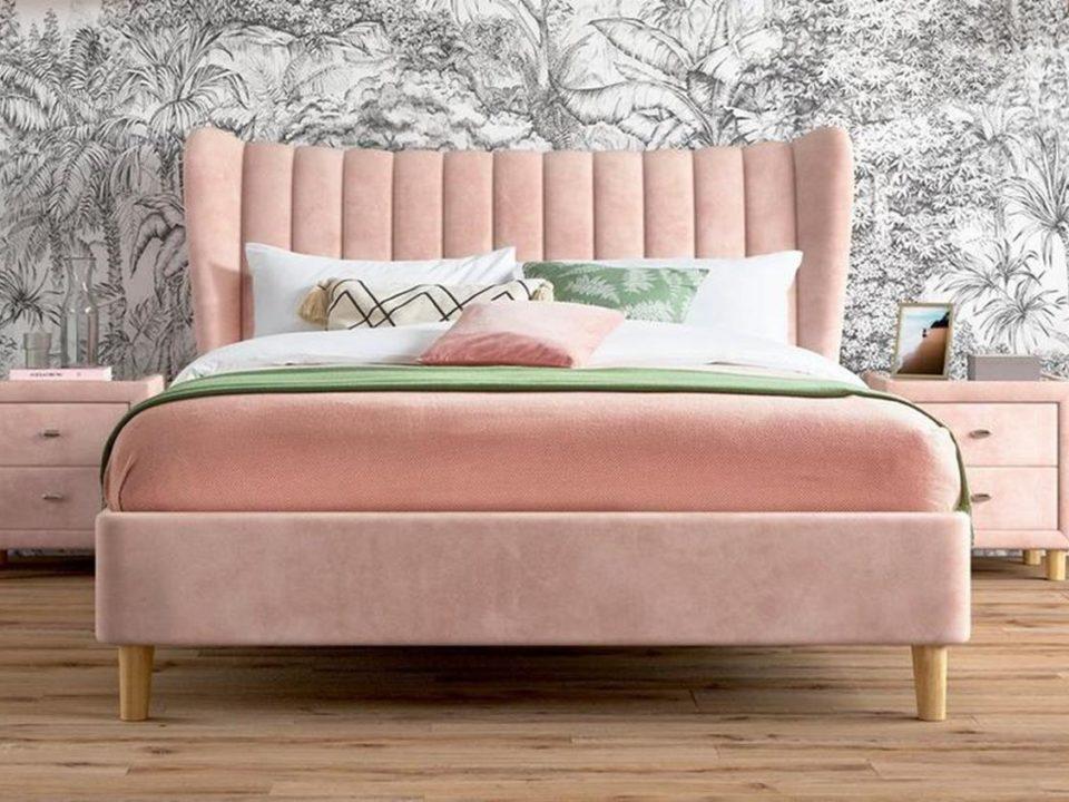Łóżko Jasmine Różowe